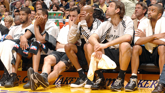 San Antonio Spurs bench