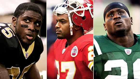 Reggie Bush, Larry Johnson and Thomas Jones