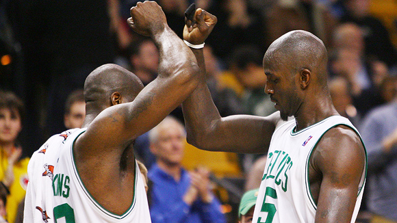 Kevin Garnett and Kendrick Perkins