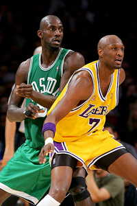 Kevin Garnett and Lamar Odom