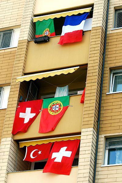 Euro 2008 flags