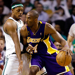 Kobe Bryant and Paul Pierce