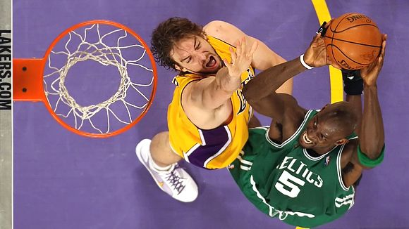 Kevin Garnett and Pau Gasol