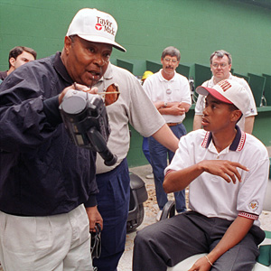 Tiger and Earl Woods