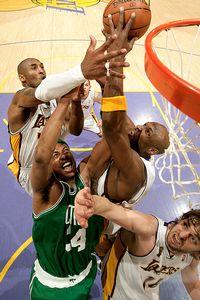 Paul Pierce and Kobe Bryant