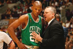 Tom Thibodeau and Ray Allen