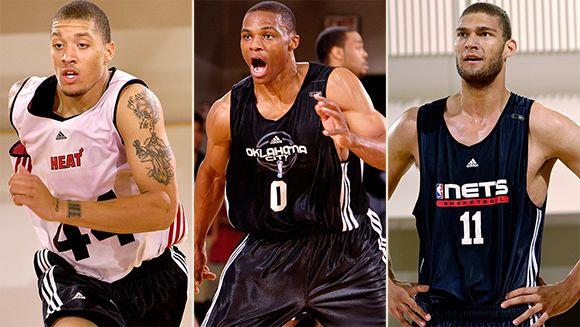 Michael Beasley, Russell Westbrook, Brook Lopez