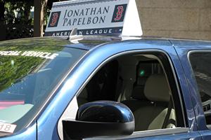 Jonathan Papelbon's parade car
