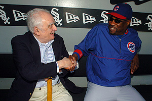 Jerome Holtzman & Dusty Baker