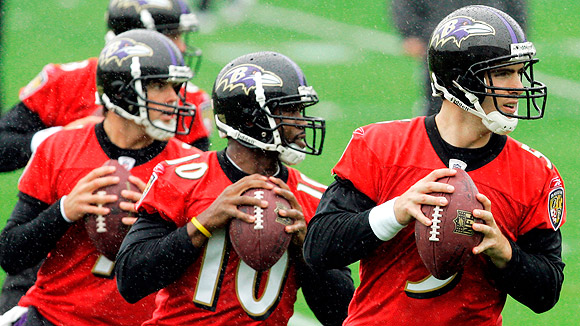 Kyle Boller, Troy Smith and Joe Flacco