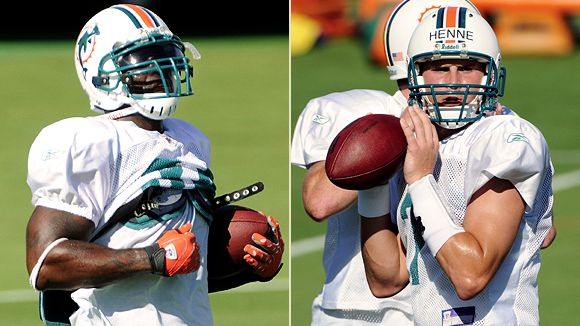 Ricky Williams and Chad Henne