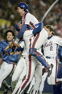 Jesse Orosco and Gary Carter