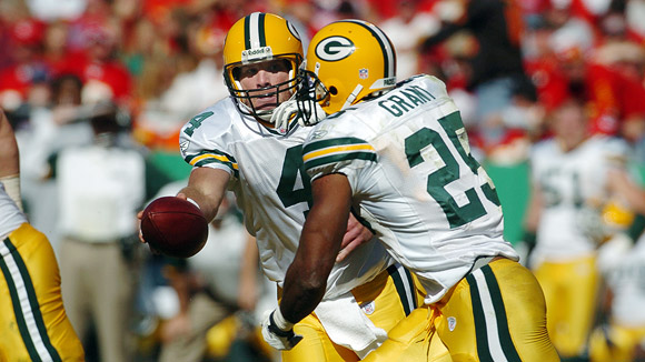 Brett Favre and Ryan Grant