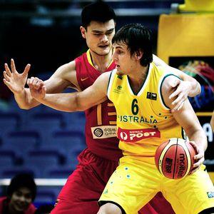 Yao Ming and Andrew Bogut