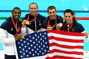 Men's Swimming Relay Team
