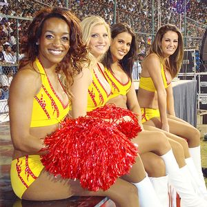 Washington Redskins Cheerleaders. Courtesy of The Washington Redskins