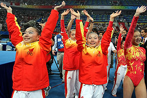 Chinese women's gymnastics team