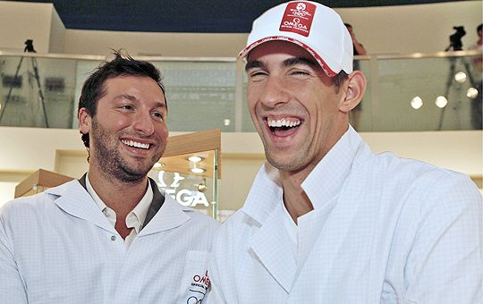 Michael Phelps and Ian Thorpe
