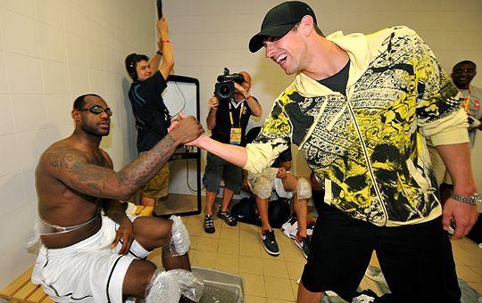Michael Phleps and LeBron James