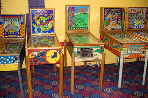 Antique pinball machines