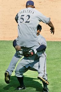 CC Sabathia and Prince Fielder