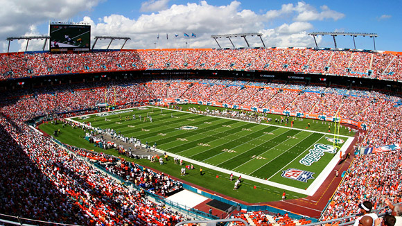 Image of the Miami Dolphins stadium.