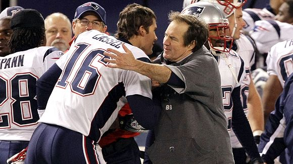 Bill Belichick and Matt Cassel