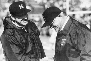 Bo Schembechler and Woody Hayes