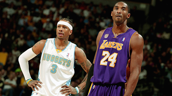 Kobe Bryant and Allen Iverson