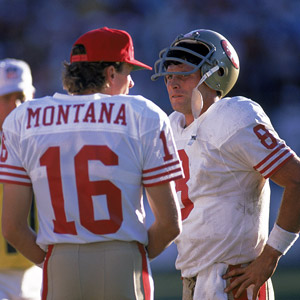 Steve Young and Joe Montana