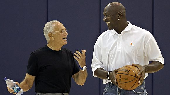 MJ and Larry Brown