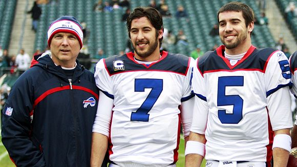 Turk Schonert, J.P. Losman and Trent Edwards