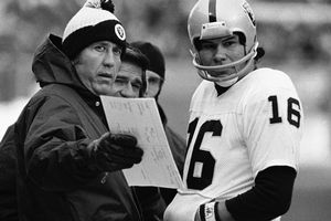 Tom Flores and Jim Plunkett