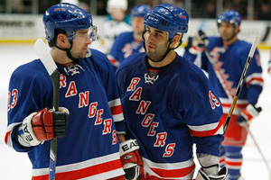 Chris Drury and Scott Gomez