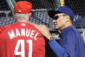 Joe Torre and Charlie Manuel