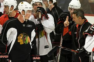 Jonathan Toews and Denis Savard