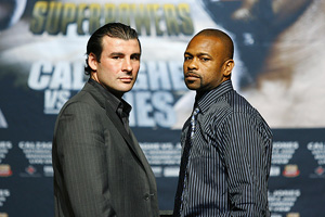 Joe Calzaghe and Roy Jones Jr.