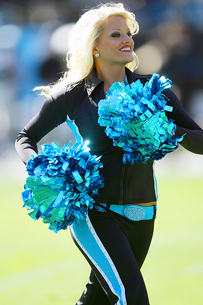 Carolina Panther Top Cat cheerleader