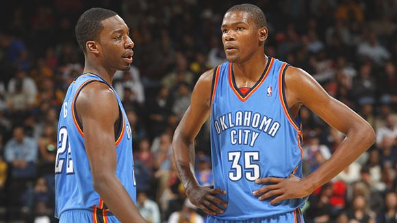 Jeff Green and Kevin Durant