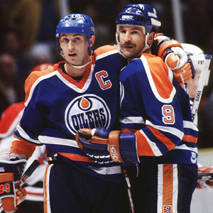 Wayne Gretzky and Glenn Anderson