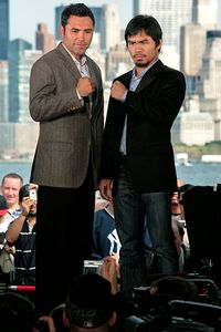 Oscar de la Hoya and Manny Pacquiao