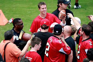 Matt Ryan with fans