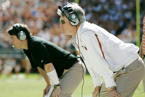 Mack Brown and Will Muschampp