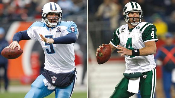 Kerry Collins and Brett Favre