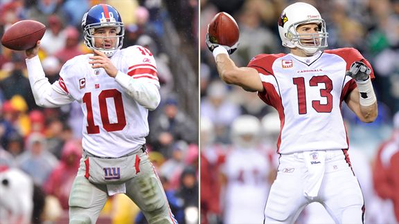 Eli Manning and Kurt Warner
