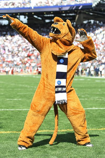 Ned Dishman/Getty Images The senior who plays the Penn State mascot ...