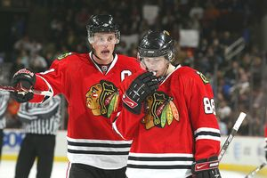 Patrick Kane and Jonathan Toews