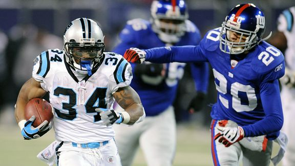 DeAngelo Williams Michael Johnson, right, and Barry Cofield
