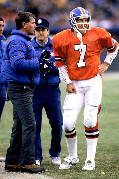 Dan Reeves and John Elway