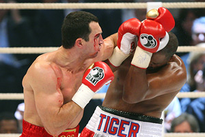 Wladimir Klitschko and Tony Thompson